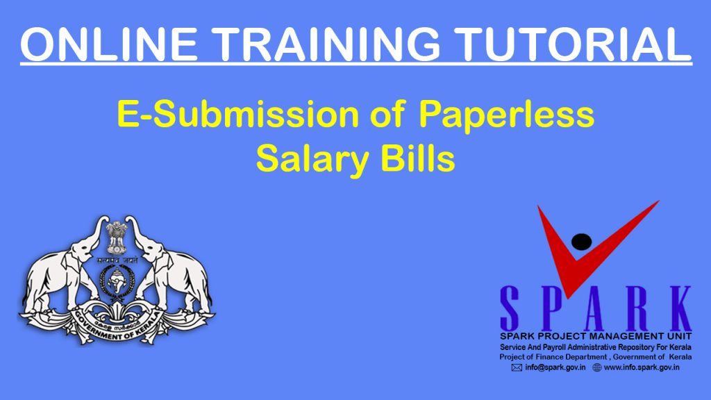 E-Submission of Paperless Salary Bills